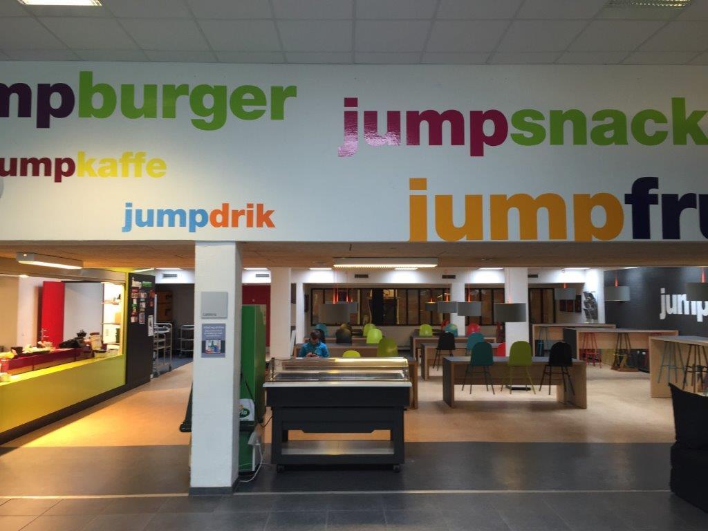 Cafeteria i Gundsølillehallen